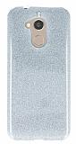 Eiroo Silvery General Mobile GM 8 Simli Silver Silikon Kılıf