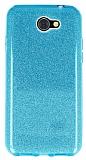 Eiroo Silvery General Mobile GM6 Simli Mavi Silikon Kılıf