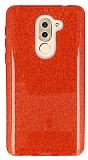 Eiroo Silvery Huawei GR5 2017 Simli Kırmızı Silikon Kılıf
