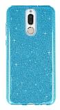 Eiroo Silvery Huawei Mate 10 Lite Simli Mavi Silikon Kılıf
