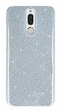 Eiroo Silvery Huawei Mate 10 Lite Simli Silver Silikon Kılıf