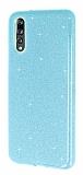 Eiroo Silvery Huawei P20 Simli Mavi Silikon Kılıf