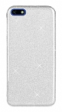 Eiroo Silvery Huawei Y5 2018 Simli Silver Silikon Kılıf