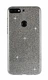 Eiroo Silvery Huawei Y7 2018 Simli Siyah Silikon Kılıf