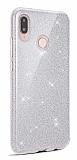 Eiroo Silvery Huawei Y7 Prime 2019 Simli Silver Silikon Kılıf