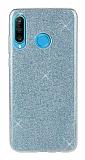 Eiroo Silvery Huawei Y9 Prime 2019 / P Smart Z Simli Mavi Silikon Kılıf