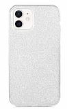 Eiroo Silvery iPhone 12 / iPhone 12 Pro 6.1 inç Simli Silver Silikon Kılıf