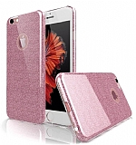Eiroo Silvery iPhone 6 Plus / 6S Plus Pembe Silikon Kılıf