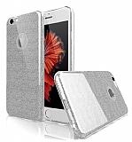 Eiroo Silvery iPhone 6 Plus / 6S Plus Silver Silikon Kılıf