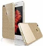Eiroo Silvery iPhone 6 Plus / 6S Plus Gold Silikon Kılıf