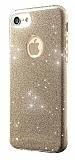 Eiroo Silvery iPhone 7 Gold Silikon K�l�f