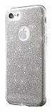 Eiroo Silvery iPhone 7 Silver Silikon K�l�f