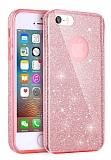 Eiroo Silvery iPhone SE / 5 / 5S Simli Silikon Kılıf