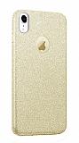 Eiroo Silvery iPhone XR Simli Gold Silikon Kılıf