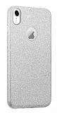 Eiroo Silvery iPhone XR Simli Silver Silikon Kılıf