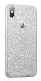 Eiroo Silvery iPhone XS Max Simli Silver Silikon Kılıf