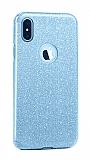 Eiroo Silvery iPhone XS Max Simli Mavi Silikon Kılıf
