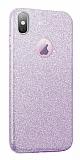 Eiroo Silvery iPhone XS Max Simli Mor Silikon Kılıf