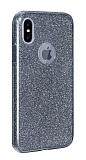 Eiroo Silvery iPhone XS Max Simli Siyah Silikon Kılıf