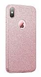 Eiroo Silvery iPhone XS Max Simli Pembe Silikon Kılıf