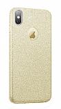 Eiroo Silvery iPhone XS Max Simli Gold Silikon Kılıf