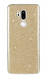 Eiroo Silvery LG G7 ThinQ Simli Gold Silikon Kılıf