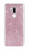 Eiroo Silvery LG G7 ThinQ Simli Pembe Silikon Kılıf