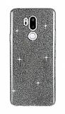 Eiroo Silvery LG G7 ThinQ Simli Siyah Silikon Kılıf