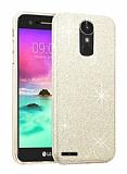 Eiroo Silvery LG Stylus 3 Simli Gold Silikon Kılıf