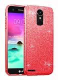 Eiroo Silvery LG Stylus 3 Simli Kırmızı Silikon Kılıf