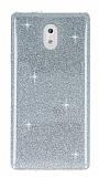 Eiroo Silvery Nokia 3 Simli Silver Silikon Kılıf