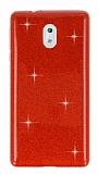 Eiroo Silvery Nokia 3 Simli Kırmızı Silikon Kılıf