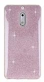Eiroo Silvery Nokia 6 Simli Pembe Silikon Kılıf