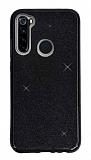 Eiroo Silvery Samsung Galaxy A21 Simli Siyah Silikon Kılıf