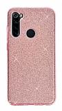 Eiroo Silvery Samsung Galaxy A21 Simli Pembe Silikon Kılıf
