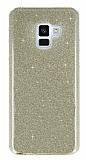 Eiroo Silvery Samsung Galaxy A6 2018 Simli Gold Silikon Kılıf
