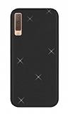 Eiroo Silvery Samsung Galaxy A7 2018 Simli Siyah Silikon Kılıf