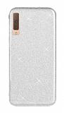 Eiroo Silvery Samsung Galaxy A7 2018 Simli Silver Silikon Kılıf