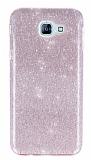 Eiroo Silvery Samsung Galaxy A8 2016 Pembe Silikon Kılıf