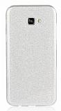 Eiroo Silvery Samsung Galaxy A8 2016 Simli Silver Silikon Kılıf