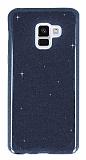 Eiroo Silvery Samsung Galaxy A8 Plus 2018 Simli Siyah Silikon Kılıf