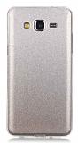 Eiroo Silvery Samsung Galaxy Grand Prime / Prime Plus Simli Silver Silikon Kılıf