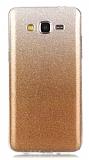 Eiroo Silvery Samsung Galaxy Grand Prime / Prime Plus Simli Gold Silikon Kılıf