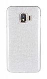 Eiroo Silvery Samsung Galaxy J2 Core Simli Silver Silikon Kılıf