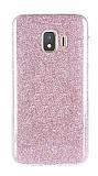Eiroo Silvery Samsung Galaxy J2 Core Simli Pembe Silikon Kılıf