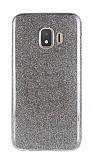 Eiroo Silvery Samsung Galaxy J2 Core Simli Siyah Silikon Kılıf