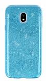 Eiroo Silvery Samsung Galaxy J3 2017 Simli Mavi Silikon Kılıf
