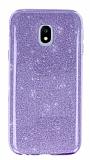 Eiroo Silvery Samsung Galaxy J3 Pro 2017 Simli Mor Silikon Kılıf
