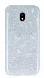 Eiroo Silvery Samsung Galaxy J3 2017 Simli Silver Silikon Kılıf