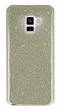 Eiroo Silvery Samsung Galaxy J4 Simli Gold Silikon Kılıf